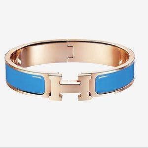 Hermes LE Bracelet in Bleu Ciel